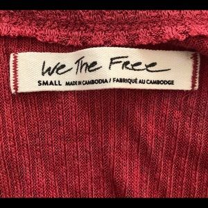 Free People Tops - Oversized Free People Burgundy Tank Top Size Small